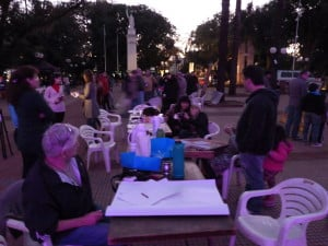 La plaza 9 de Julio se llenó de arte