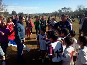 """Franco:""""Venimos a acompañar el crecimiento de nuestros chicos a través del deporte"""""""