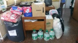 Agentes del nivel central de Salud Pública recolectaron ayuda para los inundados