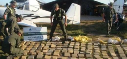 Destacan la celeridad del operativo aéreo que permitió secuestrar 150 kilos de cocaína
