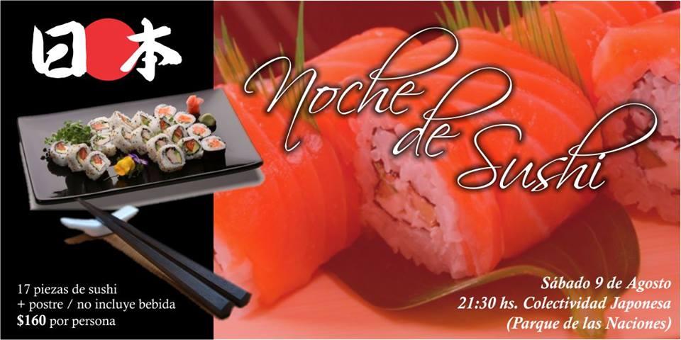 Oberá: Proponen una Noche de Sushi en el Parque de las Naciones
