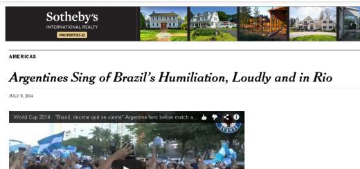 """Hasta el New York Times llegó el """"Brasil, decime que se siente"""""""