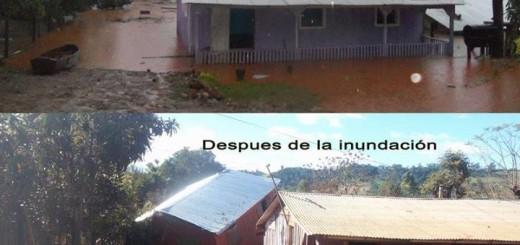Dos imágenes que muestran la magnitud de las inundaciones