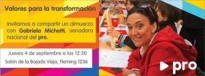 Gabriela Michetti llega el 4 de septiembre a Posadas