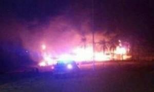 Se incendió en la madrugada de hoy el Parador Playa Soró en Ituzaingó