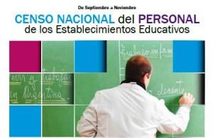 Capacitarán sobre el censo nacional del personal de los establecimientos educativos