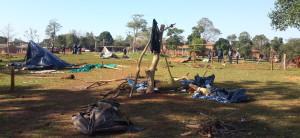 Otro desalojo en Puerto Iguazú: despejan una plaza que había sido intrusada la semana pasada