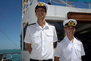 """Liceanos misioneros navegan en la fragata ARA """"Libertad"""""""