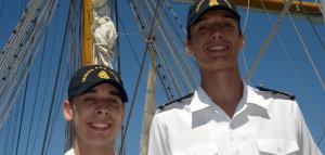 """Liceístas misioneros navegan en la Fragata ARA """"Libertad"""""""