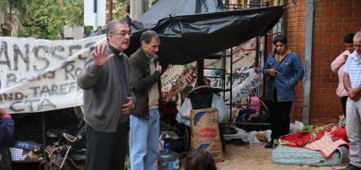 El obispo de Posadas se solidarizó con los tareferos en huelga de hambre