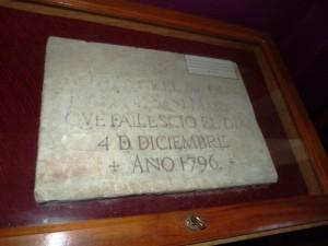 La placa que cubría la tumba del padre de San Martín se atesora en Posadas