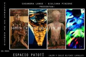 """El nuevo espacio Patotí presentará """"Somos la continuación del arte"""""""