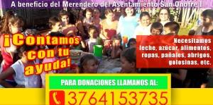 En Posadas realizan campaña solidaria en beneficio del merendero del barrio San Onofre I