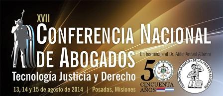 Presidencia de la Nación declaró de interés nacional la conferencia de abogados que se hará en Posadas