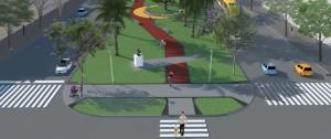 Van a mejorar y poner en valor las plazoletas de las cuatro avenidas de Posadas