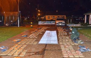 Secuestraron más de dos toneladas de marihuana ingresadas en bote desde Paraguay
