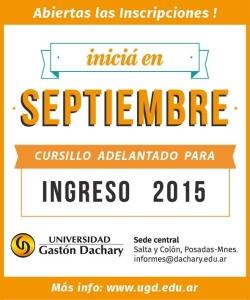 La UGD abrió el Cursillo Adelantado para el Ingreso 2015