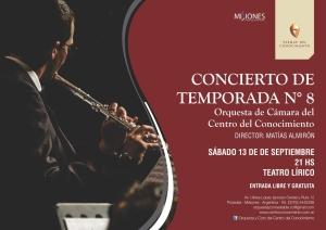 Este sábado habrá un concierto de la Orquesta de Cámara del Centro del Conocimiento