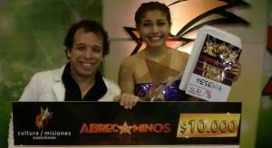 Yesenia Correa es nueva voz misionera, ganadora de Abrecaminos 2014
