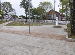 En el aniversario de Cerro Azul inauguran obras de remodelación y puesta en valor de la plaza central