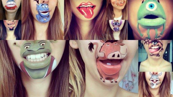 Noticia viral: una chica es furor en las redes por pintarse los labios  con famosos personajes de Disney