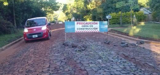 Vialidad construye acceso al hogar Santa Teresita de Oberá