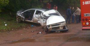 Colisión frontal entre dos vehículos provocó varios heridos graves en Oberá