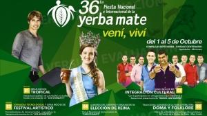 Closs encabezará el acto de apertura de la Fiesta de la Yerba Mate en Apóstoles