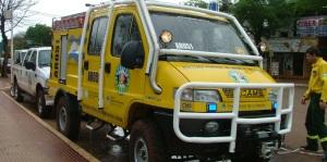 Eldorado recibió una costosa autobomba para incendios forestales