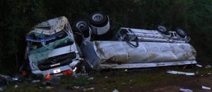 Ecologíacontroló el vertido de combustible del camión que volcó en el parque Urugua-í