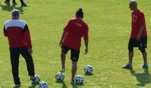 Guaraní entrena por última vez antes de viajar a San Juan