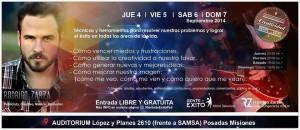 Invitaron a los jóvenes a charlas de motivación con Rodrigo Zarza