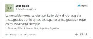 Artistas e intelectuales le dicen adiós a Gustavo Cerati en las redes sociales