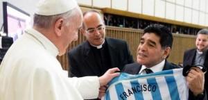 """Partido por la Paz: """"Se juntaron dos potencias"""" dijo Maradona sobre el Papa Francisco"""