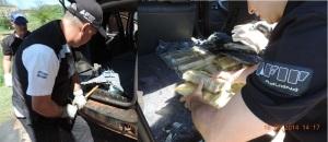 Detienen a una pareja de paraguayos que pretendía ingresar marihuana en el puerto de Piray