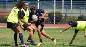 Rugby femenino: La selección Argentina se midió con Inglaterra y Russia con la misionera Noelia Billerberck