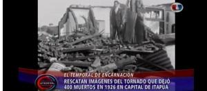 Encuentran imágenes inéditas del ciclón que arrasó con Encarnación en 1926