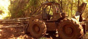 En Aurora secuestran un tractor Zanello que hacía desmontes sin autorización