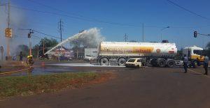 Realizaron un simulacro de asistencia a un accidente con derrame de sustancias peligrosas en Iguazú