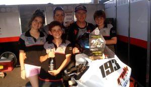 Argentino de velocidad: El Rolly se subió al podio
