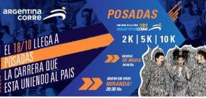 """El 18, """"Argentina Corre"""" llega a Posadas con maratón, desfile de modelos y el show de Miranda"""