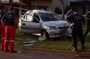 Un policía murió en un accidente esta madrugada frente a la Escuela de Música de Posadas