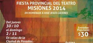 Este fin de semana se realizará la XXVI Fiesta Provincial del Teatro