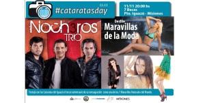 """Ingrid, Zaira, Dolores Barreiro, Attías, Zamolo y la """"Sueca"""" con Los Nocheros para festejar el #cataratasday"""