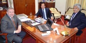 En su visita a la provincia, el subdirector de operaciones de Aduana se reunió con el ministro Franco