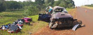 Una familia se accidentó en un despiste en Comandante Andresito
