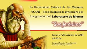 El lunes inauguran el Laboratorio de Idiomas de la UCAMI