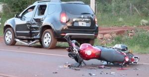 Motociclista herido tras un accidente en Posadas