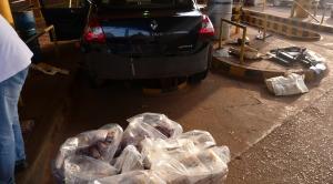Puente Posadas-Encarnación: decomisaron un cargamento de marihuana escondido en un auto