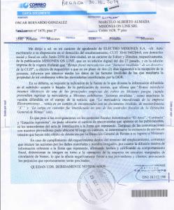 Aseguran que Rentas no logra confirmar supuesta infracción de Electromisiones e intiman a Misiones On Line a revelar sus fuentes